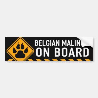 Belge Malinois à bord Autocollant De Voiture