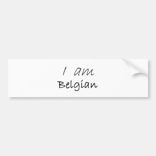 Belgian.jpg Adhésif Pour Voiture