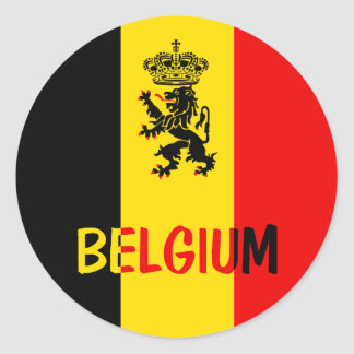 België Ronde Sticker