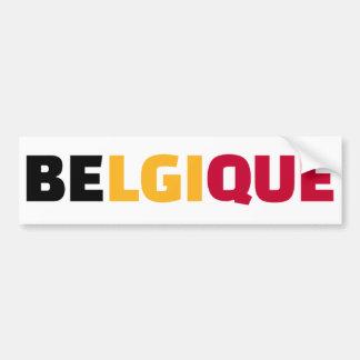 Belgique Autocollant De Voiture