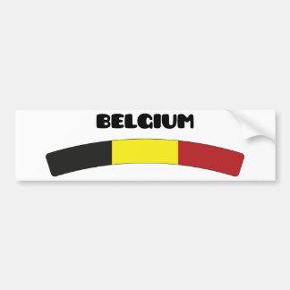 Belgique/Belgique Autocollant De Voiture