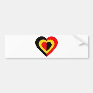 belgique-heart-2. adhésif pour voiture