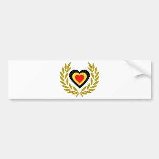 belgique-laurel-heart-3 adhésif pour voiture