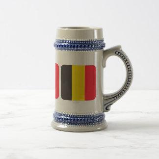 Belgische driekleur van Belgie bierkroes Bierpul