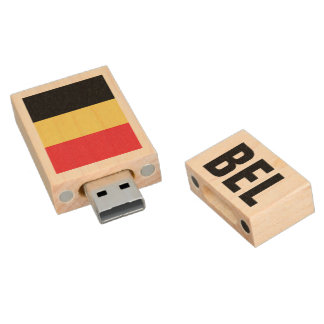 Belgische pendrive de flitsaandrijving van vlagUSB Houten USB 2.0 Stick