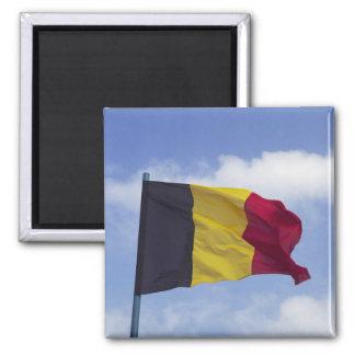 Belgische vlag rf) vierkante magneet