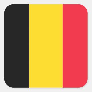 Belgische Vlag Vierkante Stickers