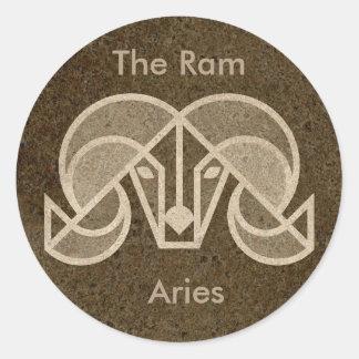 Bélier, la RAM, autocollant de signe d'horoscope