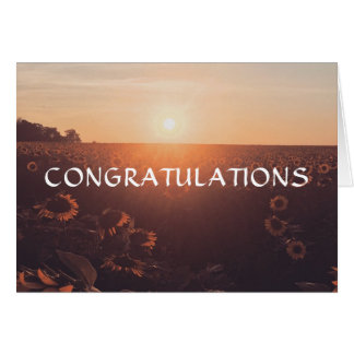 Belle carte de félicitations de tournesol