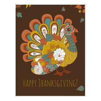 Belle carte de la Turquie de bon thanksgiving