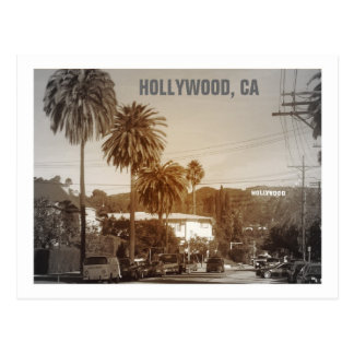 Belle carte postale de Hollywood !