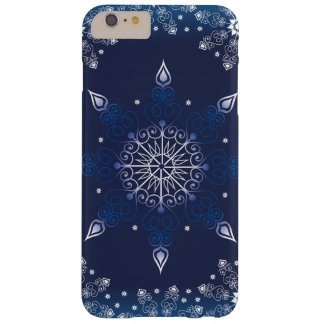 Belle conception bleue d'hiver coque iPhone 6 plus barely there