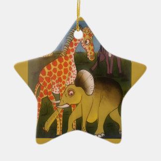 Belle couleur africaine extraordinaire de safari ornement étoile en céramique