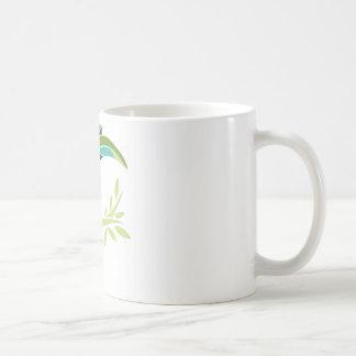 Belle illustration d'oiseau mug blanc