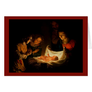 Belle image 1620 de carte de Noël de scène de