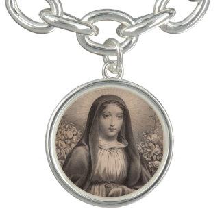 Belle image française antique de la Vierge Marie Bracelets