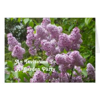 Belle invitation de jardin de lilas