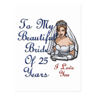 Belle jeune mariée cartes postales