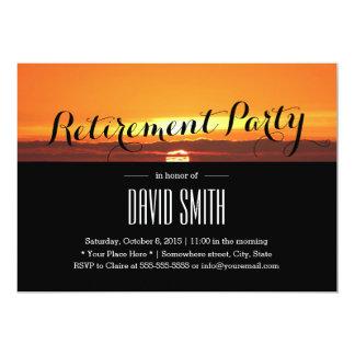 Belle partie de retraite de coucher du soleil carton d'invitation  12,7 cm x 17,78 cm