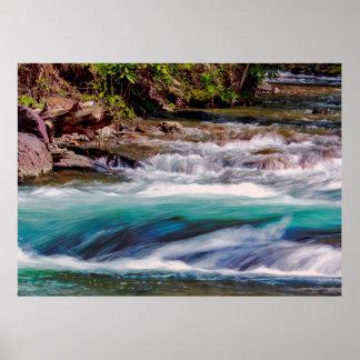 Belle photo de paysage de crique de l'eau poster