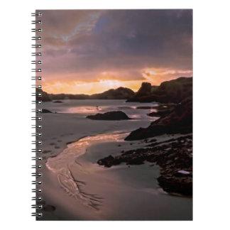 Belle photo de plage, sur le carnet de photo