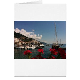 Belle photographie de la côte d'Amalfi, Italie Carte