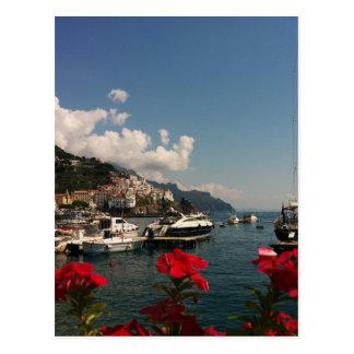 Belle photographie de la côte d'Amalfi, Italie Carte Postale