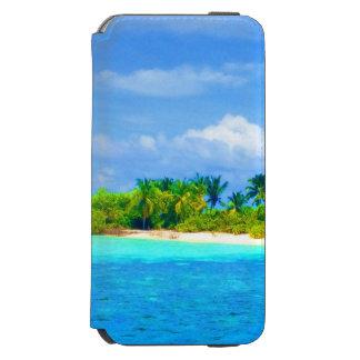 Belle plage tropicale d'île en Maldives Coque-portefeuille iPhone 6 Incipio Watson™