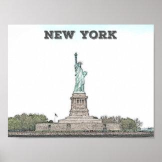 Belle statue de la liberté - New York City, NY