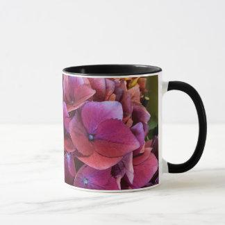 Belle tasse d'hortensia