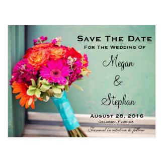 Belles économies de mariage de fleur la carte carte postale