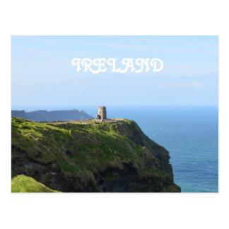 Belles falaises vertes de Moher Carte Postale
