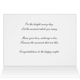 Belles félicitations de mariage de jour de ciel carte de vœux