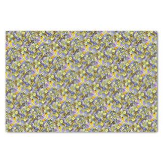 Belles fleurs colorées de ressort papier mousseline