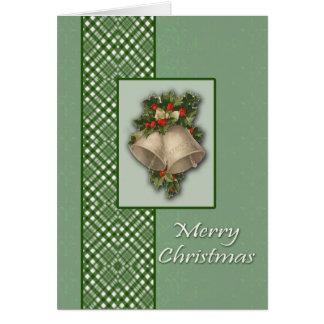 Bells et carte de Noël d'arcs