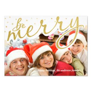 Ben de Vrolijke Gouden Foto van Kerstmis van het 11,4x15,9 Uitnodiging Kaart