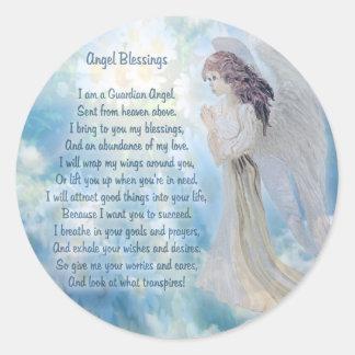 Bénédictions d'ange gardien sticker rond
