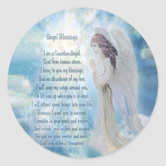 Bénédictions d'ange sticker rond