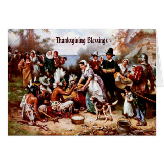 Bénédictions de thanksgiving. Carte