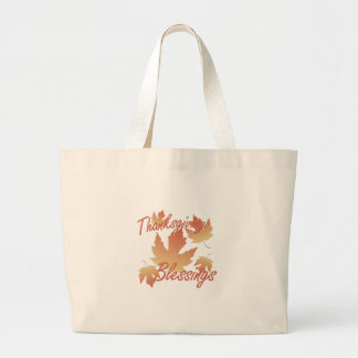 Bénédictions de thanksgiving grand tote bag
