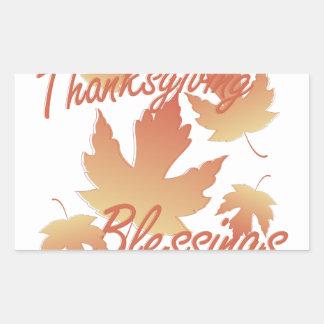 Bénédictions de thanksgiving sticker rectangulaire