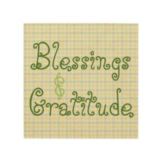 Bénédictions et art en bois de mur de gratitude