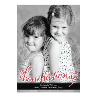 Bénédictions Holiday Photo Cards Carton D'invitation