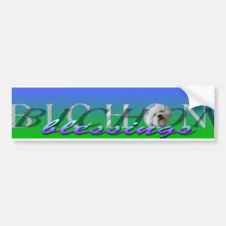 bénédictions logo_edited-2 de bichon autocollant de voiture