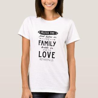 Bénissez l'amour de famille de nourriture t-shirt