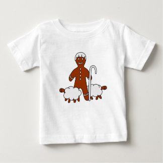 Berger et moutons mignons - T-shirt de bébé