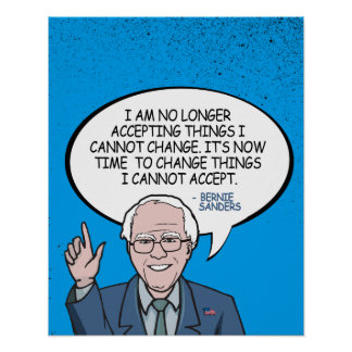 Bernie Sanders Comic Quote Poster