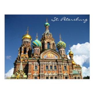 Beroemde Kerk van St. Petersburg Rusland Briefkaart