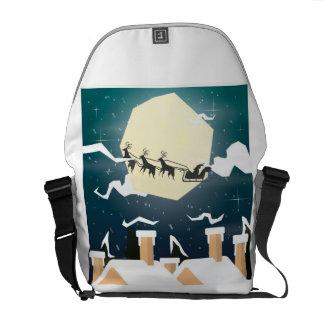 Besace Joyeux Noël Père Noël et renne