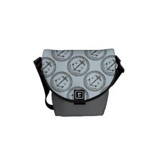 Besace Mini sac messenger à étiquette français vintage de